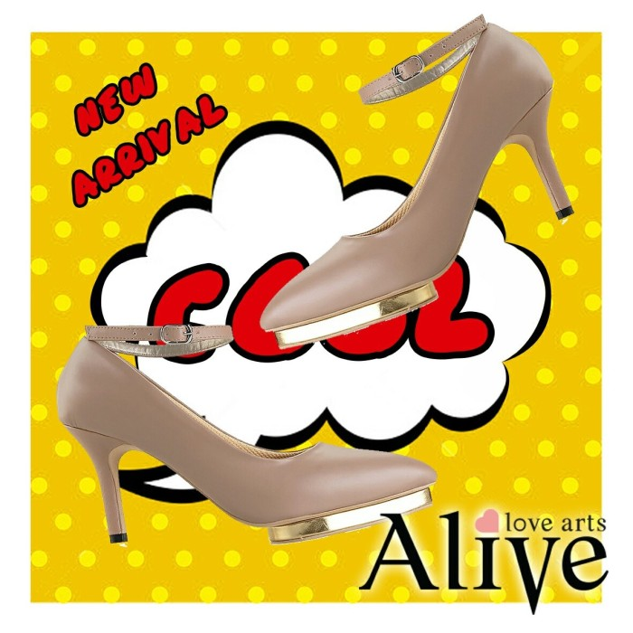 Alivelovearts athens nude fashion wanita shoes heels termurah