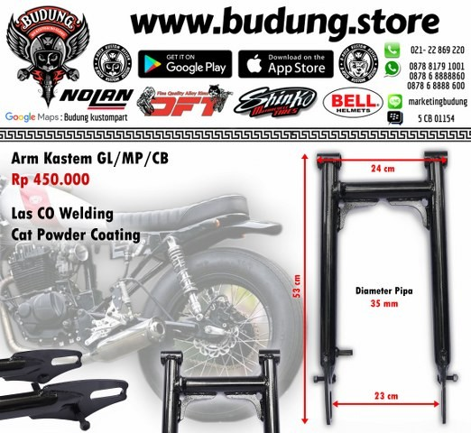 harga Swing arm custom honda gl/mp/cb hitam Tokopedia.com
