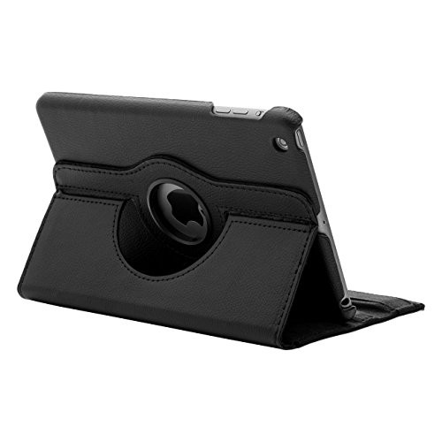 Rotating case iPad mini 1 2 3 Retian 4 stand support Rotari Leather - Hitam