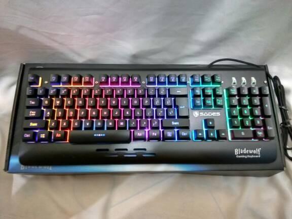 LED Gaming Keyboard. Source · Sades Bladewolf RGB + Sound Sensor .