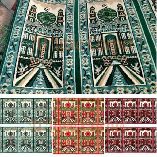Karpet sajadah roll motif mesjid pillar dan polos 105 x 570 .