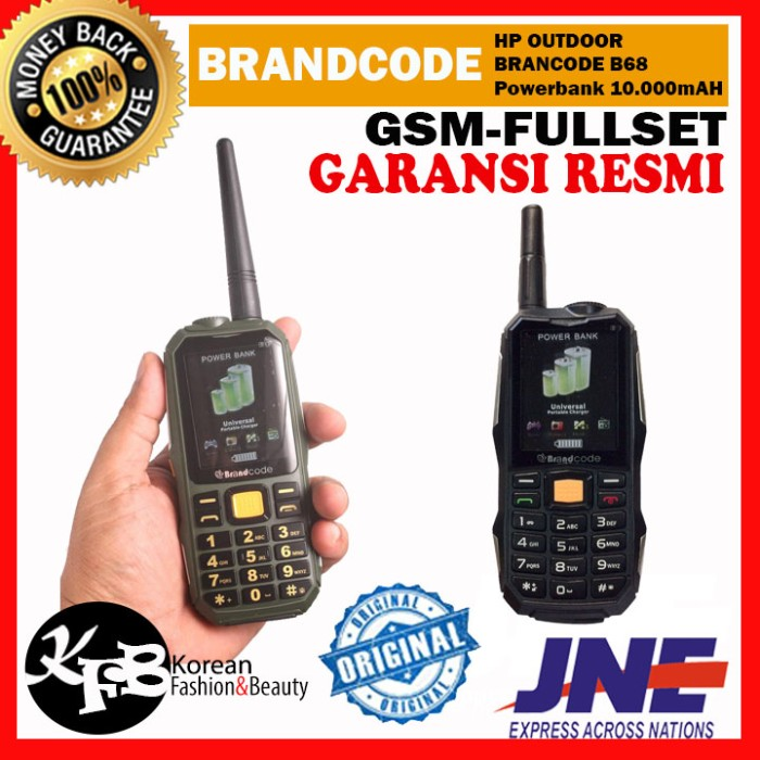 harga Hp outdoor brandcode brancode b68 - bisa powerbank 10.000mah Tokopedia.com