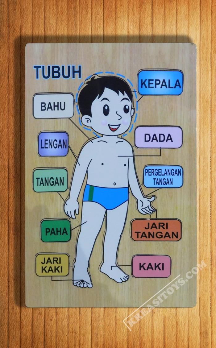 Jual Mainan Edukasi Puzzle Kayu Mengenal Anggota Tubuh Jakarta Timur KREASI TOYS