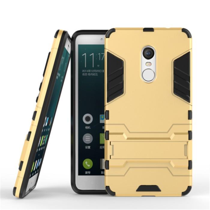 Case Xiaomi Redmi Note 4X Snapdragon Casing Iron Man - Gold