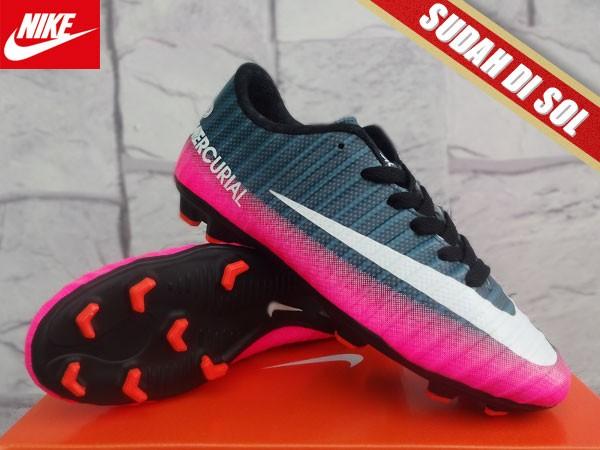 timeless design e5d54 d32b1 Jual Sepatu Bola Nike Mercurial Superfly X Hitam Pink KW Super