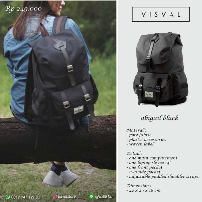 Tas Ransel Backpack Visval Abigail Black