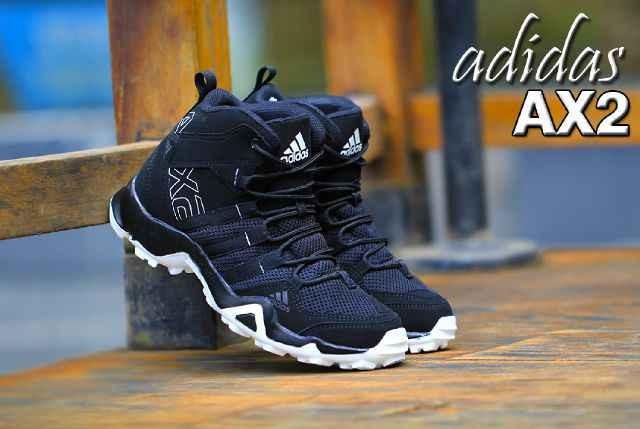 Jual Sepatucasual Pria Adidas Ax2 High Original Premium Black White
