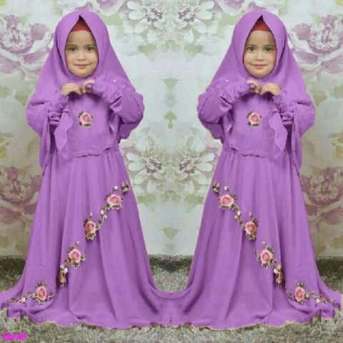 harga Syari anak dora/baju muslim anak perempuan/model terbaru/fashion/sw