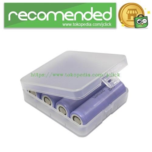 Foto Produk Transparent Battery Case for 4x18650 - Transparent dari JClick