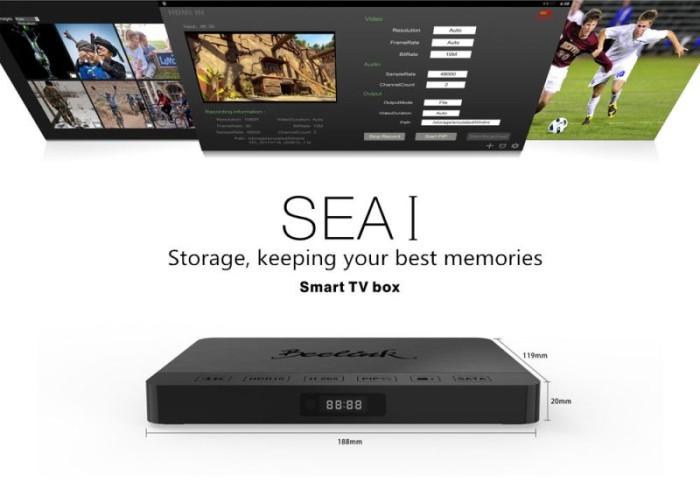 Beelink sea i android tv box realtek 1295 quad core cpu - 2gb+16gb