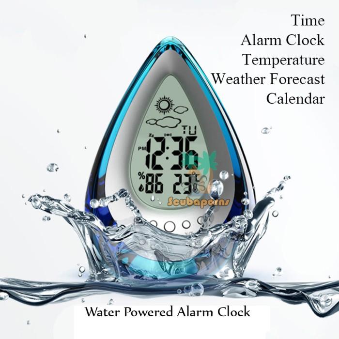 harga Jam alarm tenaga air + barometer + temp - water powered digital clock Tokopedia.com