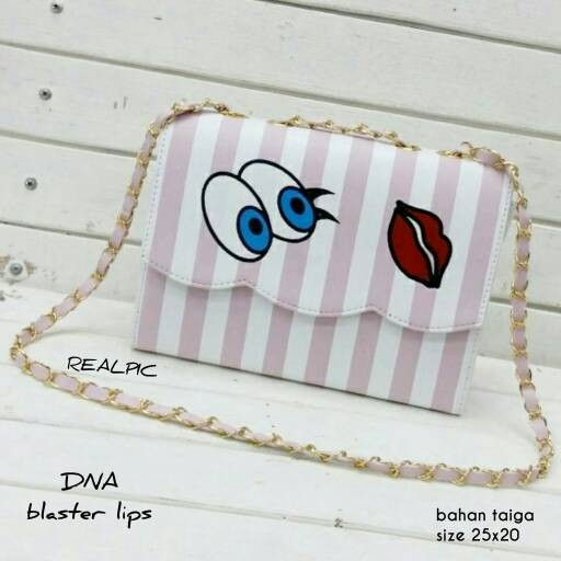 Foto Produk tas fashion wanita murah slingbag blaster lips grosir tas selempang dari Then4Shop