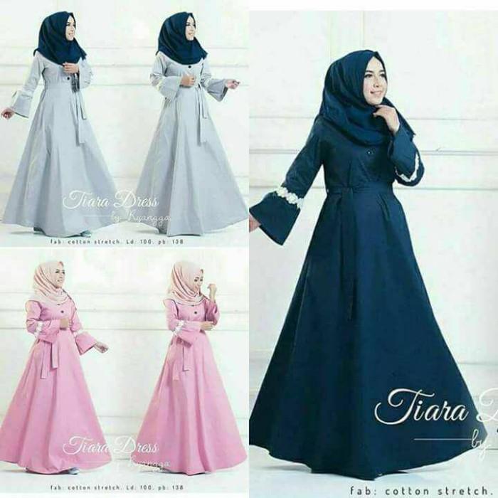 harga Tiara dress - baju gamis muslim maxi longdress wanita tutu tile brukat Tokopedia.com