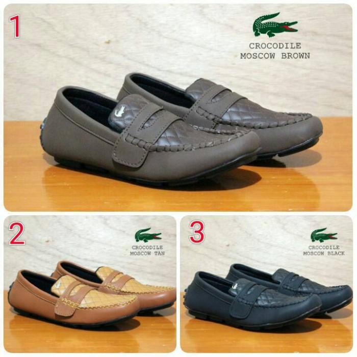 Sepatu pria slipon casual mocasin grade original crocodile lacoste 9d7c61407e