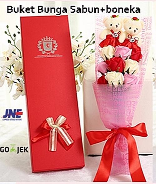 Jual Buket 18 Bunga Mawar Sabun+ Boneka 75f454888d