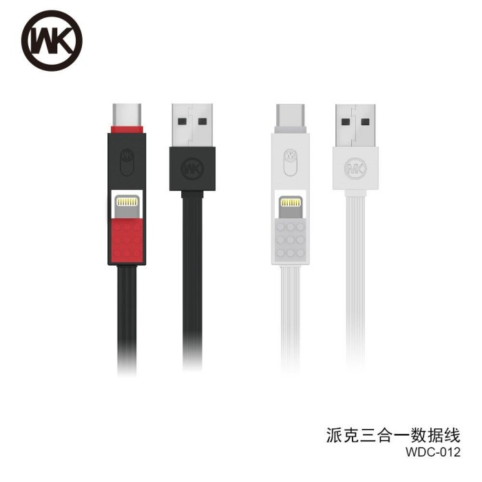 harga Original wk design parker wdc012 3 in 1 fast charging data cable apple Tokopedia.com