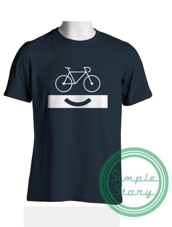 Foto Produk Baju Distro Kaos Sepeda Smile Bike dari Jagoan Kaos