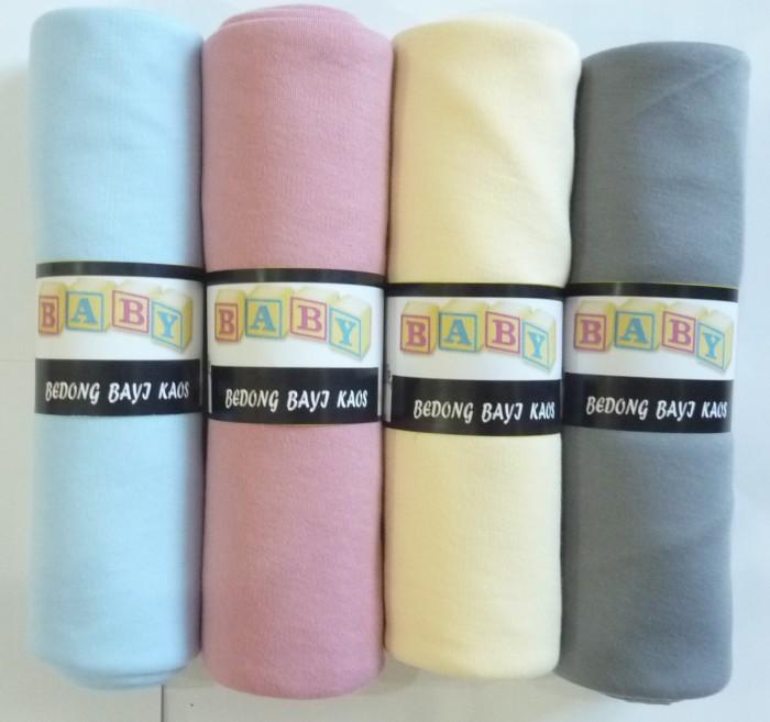Bedong bayi kaos/ selimut bayi / alas bayi warna isi 4 pcs bahan halus