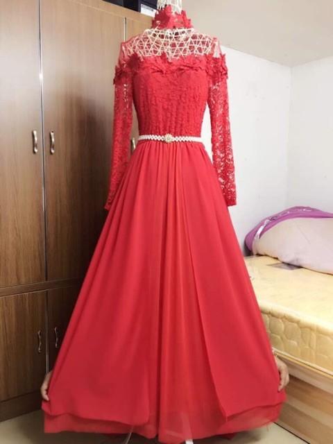 harga Dress ekor 9281/ baju pesta / baju maxi / baju nikah / gaun brokat Tokopedia.com