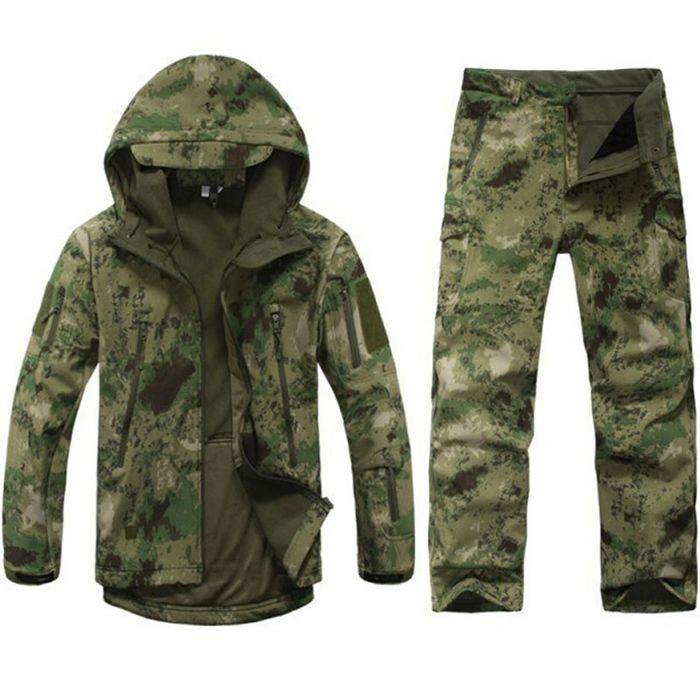 Jacket   Pant Shark Skin Military Set Camouflage Suit Tactical soft sh