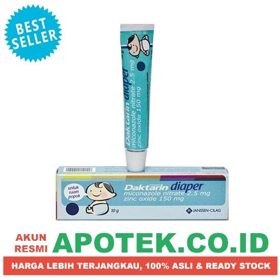 harga Daktarin diaper 10 gr - krim / salep - infeksi kulit / ruam popok Tokopedia.com