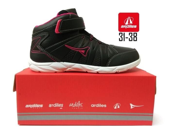 harga Sepatu ardiles gb-iveco hitam pink, sekolah anak perempuan sd smp Tokopedia.com
