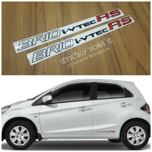 Tokomonster Decal BRIO i vtec RS Sticker RS Samping Mobil Source · Jual stiker pintu samping