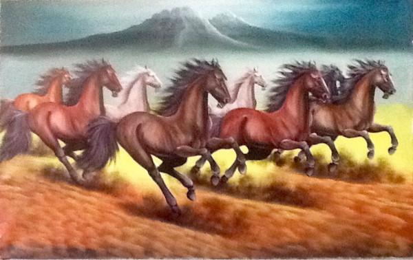 harga Lukisan kuda lari 135x85 feng shui kekayaan berlimpah pembawa rejeki3 Tokopedia.com