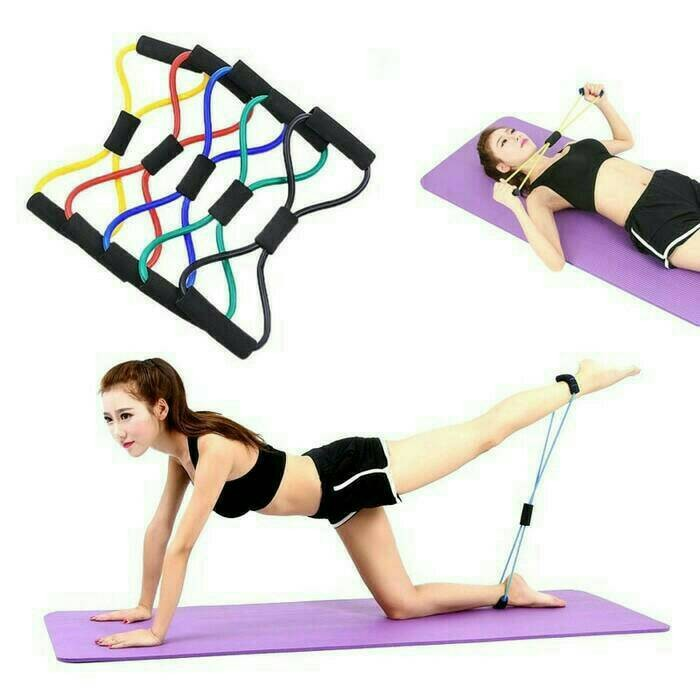 harga Exercise elastic band fitness equipment yoga gym (tali karet elastis) Tokopedia.com