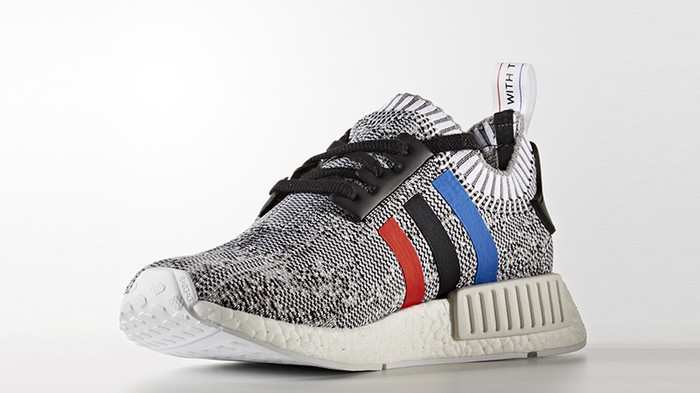 49c293b0ca22c Jual Adidas NMD R1 Tri Color Primeknit Stripes White   Core Black ...