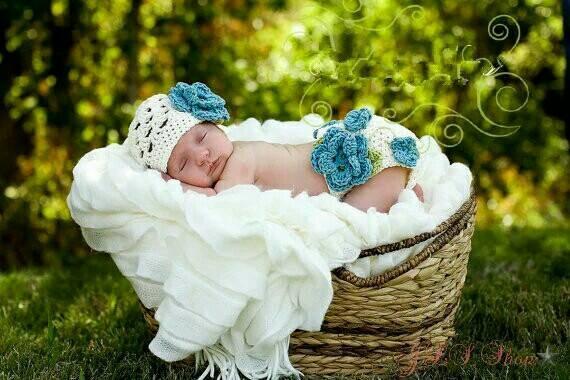 harga Kostum rajut foto bayi #setelan topi bunga biru Tokopedia.com