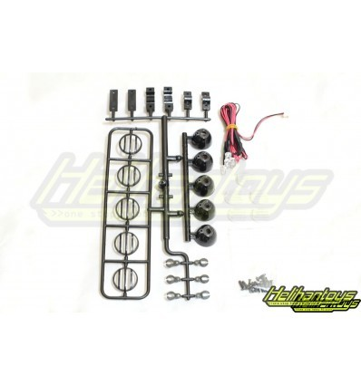 harga 5 bucket light with led for truck and rally (black) 7rc00156bk Tokopedia.com