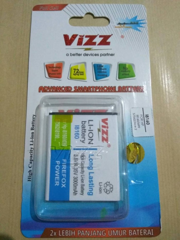 Jual S3 Mini 3000mAh Battery Baterai Vizz Double Power