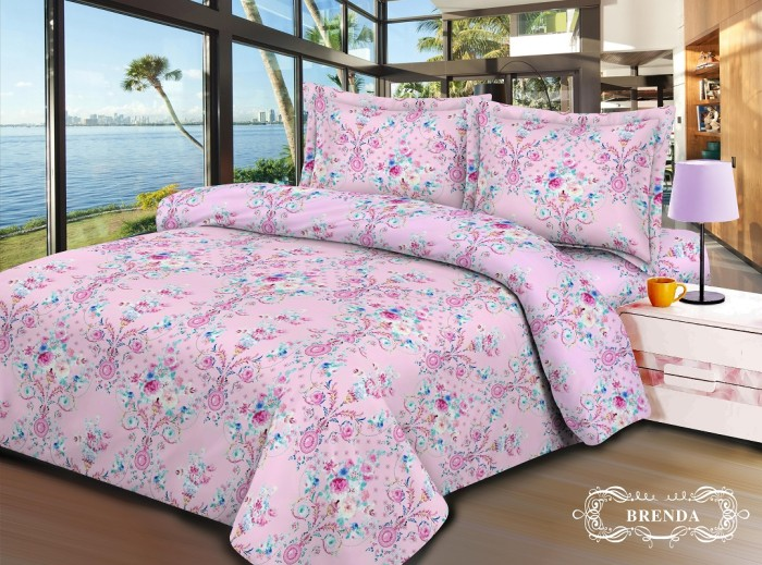 V-Bed Sprei 160x200x30 No.2 Queen Size - Brenda