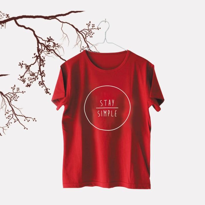 Tumblr Tee / T-Shirt / Kaos Wanita Lengan Pendek Stay Simple Maroon