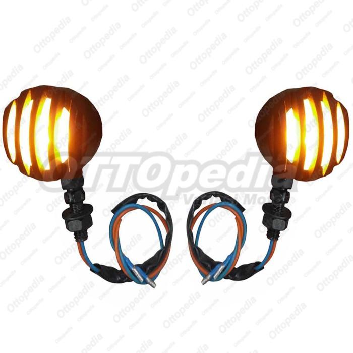 harga Lampu sen - sein teralis besi motor custom harley japstyle bratstyle Tokopedia.com