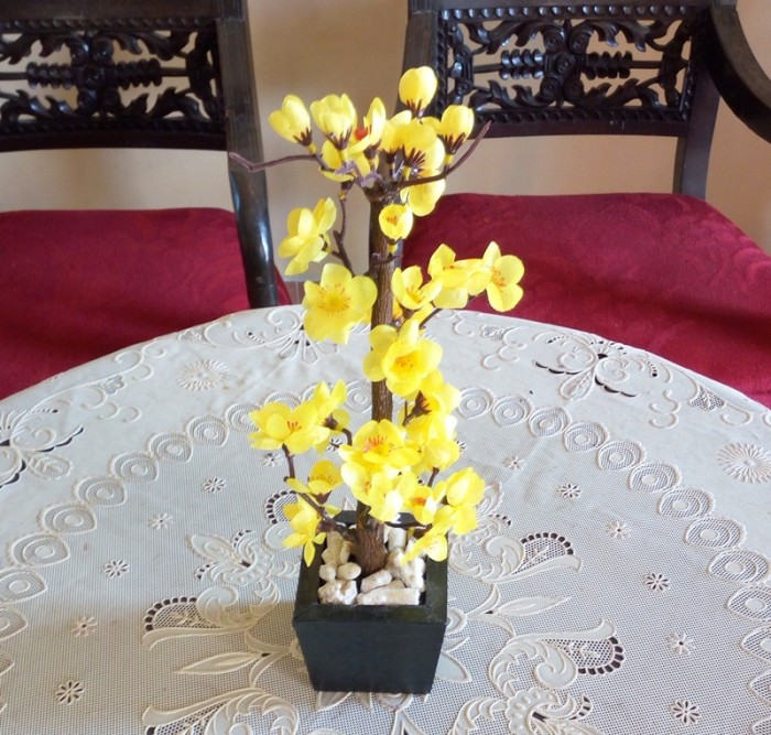 Bunga Artifisial Hiasan Meja Sakura Kecil Kuning 6f0fd1eecb