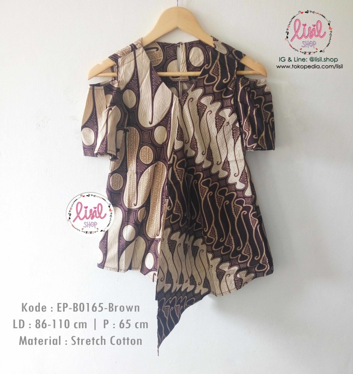 Jual Baju Batik Wanita Atasan Batik Cewek Blouse Babydoll Cut Off ... e83ad833ac