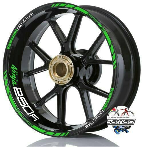harga Stiker velg sticker decal motor ninja 250 fi kawasaki racing team Tokopedia.com