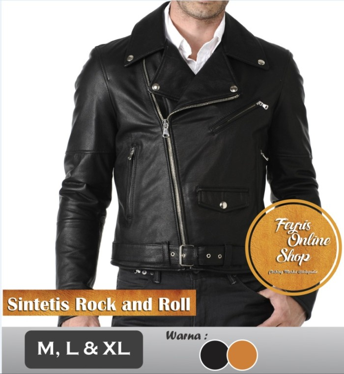 harga Jaket semi kulit pria sintetis rock and roll | punk | changcuters Tokopedia.com