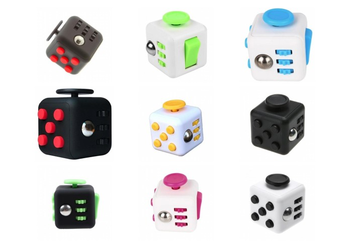 High quality fidget cube - spin - click - glide - flip - roll - breath