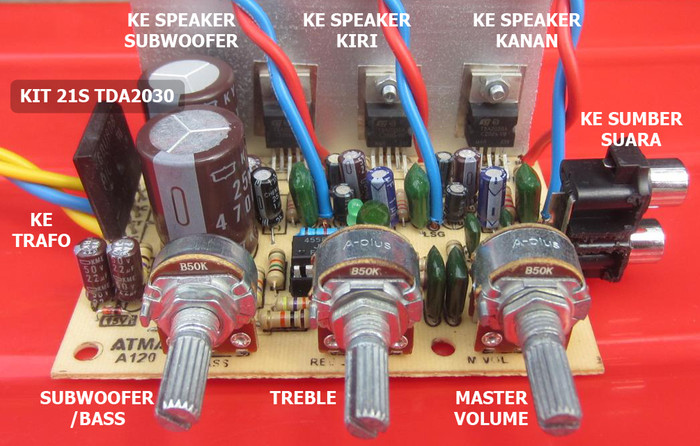 harga Kit power amplifier 21s tda2030 / 2.1 sistem Tokopedia.com