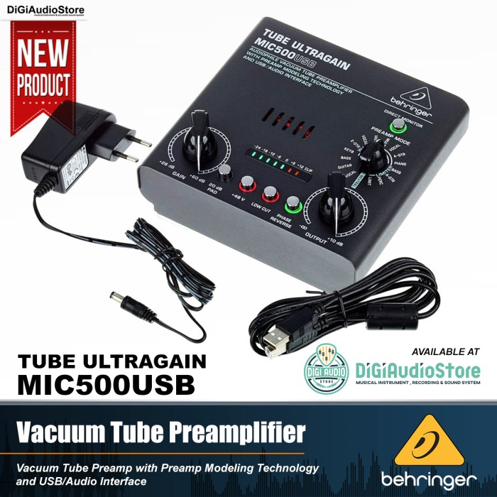 harga Behringer mic500usb tube microphone amplifier / preamp mic tabung Tokopedia.com