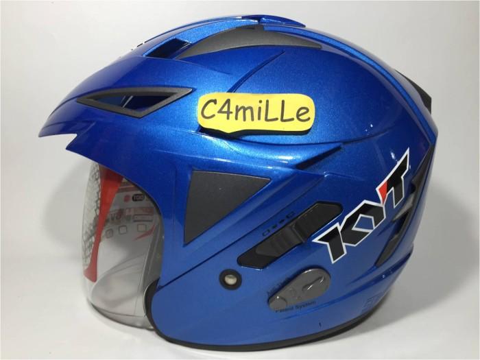 harga Helm kyt scorpion king solid blue double visor half face Tokopedia.com