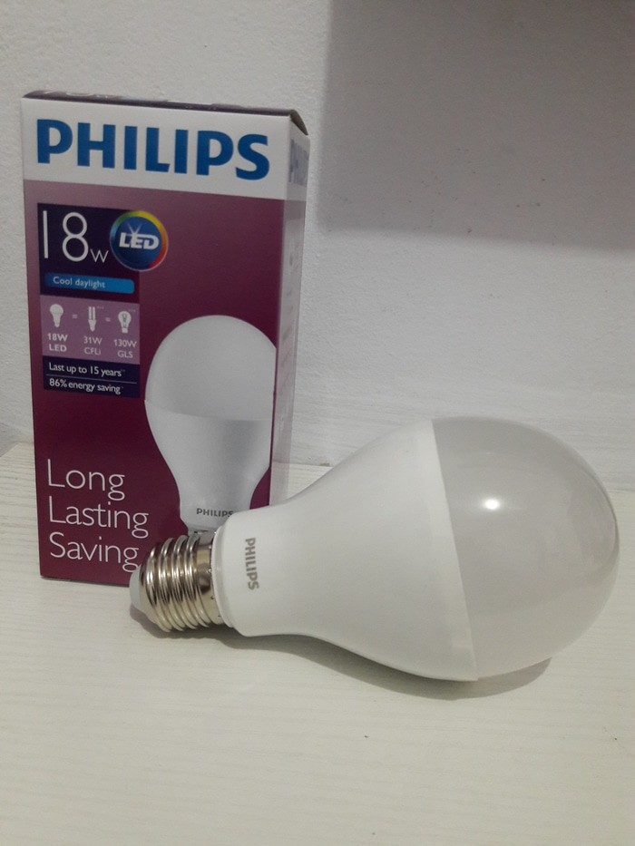 Jual Bohlam LED PHILLIPS 18 WATT/LED Bulb PHILLIPS (Putih Terang) - NLS Corp. | Tokopedia