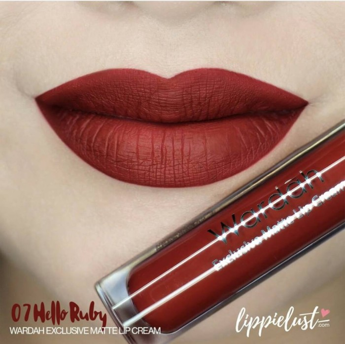 Foto Produk Wardah Exclusive Matte Lip Cream Hello Ruby 07 dari Graha Kosmetik