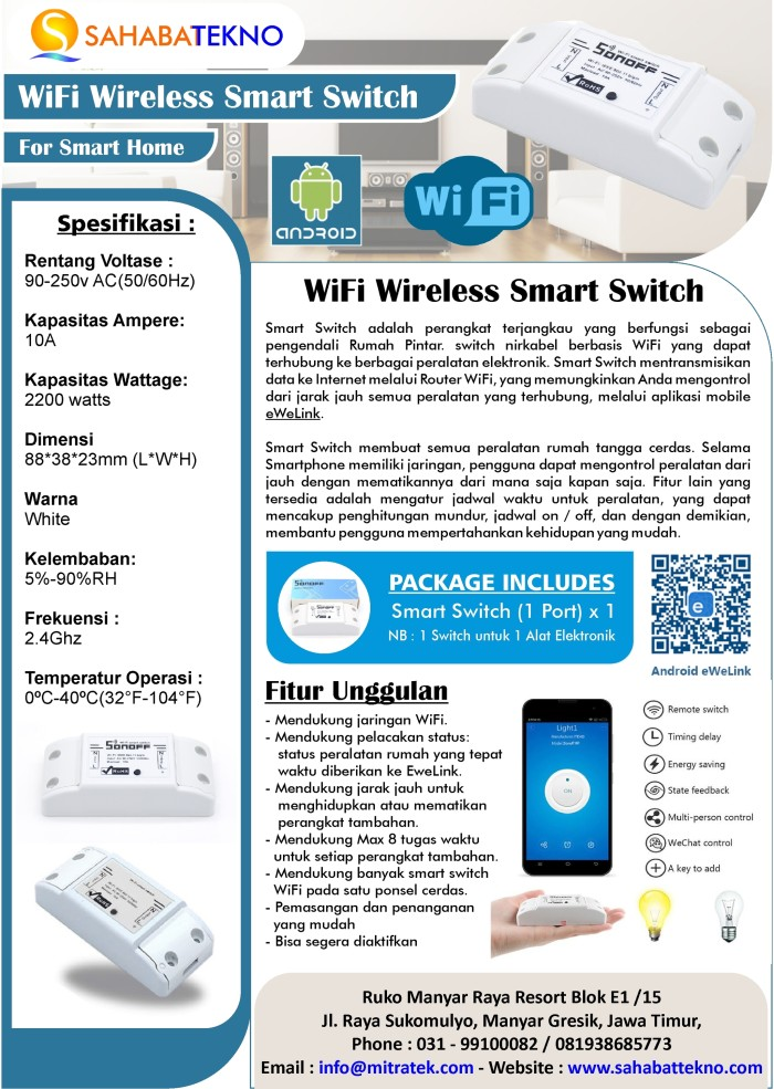 Jual Smart Switch / Digital Timer WiFi Control from Apple And Android -  Kab  Gresik - Sahabat Tekno | Tokopedia