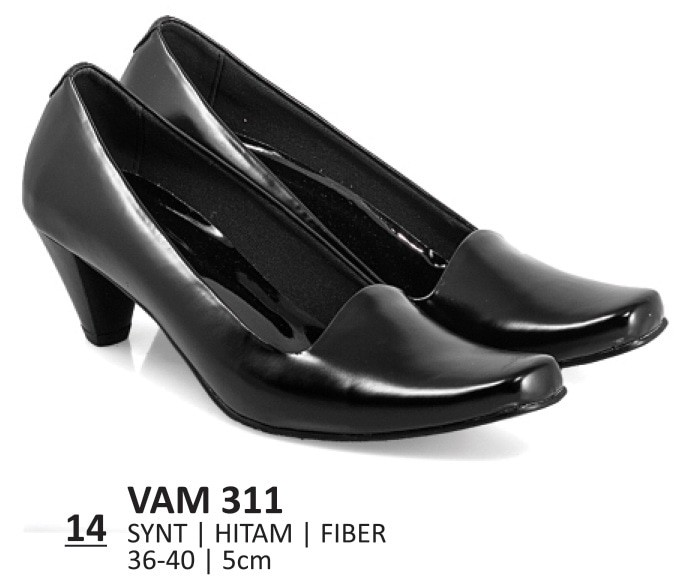 Jual Sepatu Kerja Wanita Kantoran Guru Sepatu Pantofel Heels