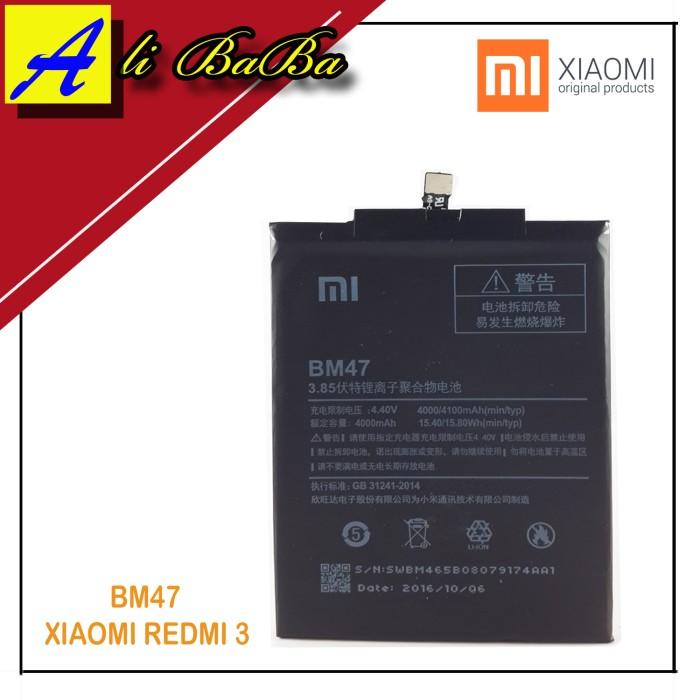 harga Baterai handphone xiaomi bm47 bm-47 xiaomi redmi 3 battery original Tokopedia.com