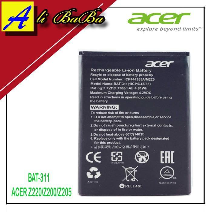 harga Baterai handphone acer bat-311 acer z220 z200 z205 m220  original acer Tokopedia.com